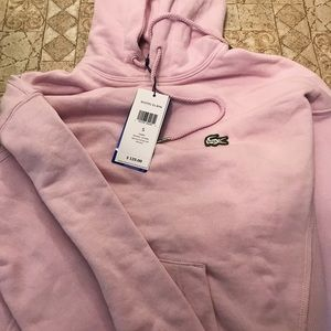Pink Lacoste Hoodie- size small